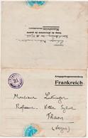 Lettre PG Prisonnier Guerre 1917 / Lutringer Médecin Au Camp De Mannheim Allemagne / Vignette Bleue De Fermeture - 1914-18