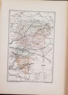 CARTE GEOGRAPHIQUE ANCIENNE: FRANCE: AISNE (02) (garantie Authentique. Epoque 19 ème Siècle) - Carte Geographique