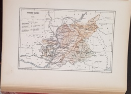 CARTE GEOGRAPHIQUE ANCIENNE: FRANCE: BASSES ALPES (04) (garantie Authentique. Epoque 19 ème Siècle) - Cartes Géographiques