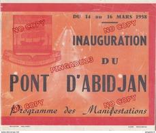 Au Plus Rapide Abidjan Côte D'Ivoire Programme Inauguration Pont Publicité Simca Aronde Air France Commerce 44 Pages - Programmes