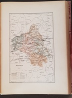 CARTE GEOGRAPHIQUE ANCIENNE: FRANCE: AVEYRON(12) (garantie Authentique. Epoque 19 ème Siècle) - Carte Geographique