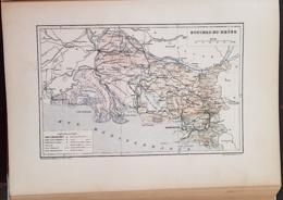 CARTE GEOGRAPHIQUE ANCIENNE: FRANCE: BOUCHES DU RHONE(13) (garantie Authentique. Epoque 19 ème Siècle) - Carte Geographique