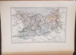 CARTE GEOGRAPHIQUE ANCIENNE: FRANCE: CALVADOS(14) (garantie Authentique. Epoque 19 ème Siècle) - Carte Geographique