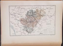 CARTE GEOGRAPHIQUE ANCIENNE: FRANCE: CHARENTE (16) (garantie Authentique. Epoque 19 ème Siècle) - Geographical Maps