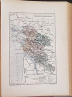 CARTE GEOGRAPHIQUE ANCIENNE: FRANCE: CHARENTE INFERRIEURE (17) (garantie Authentique. Epoque 19 ème Siècle) - Cartes Géographiques