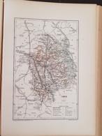 CARTE GEOGRAPHIQUE ANCIENNE: FRANCE: CHER (18) (garantie Authentique. Epoque 19 ème Siècle) - Carte Geographique