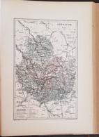 CARTE GEOGRAPHIQUE ANCIENNE: FRANCE: COTE D'OR (21) (garantie Authentique. Epoque 19 ème Siècle) - Carte Geographique