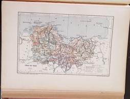 CARTE GEOGRAPHIQUE ANCIENNE: FRANCE: COTES DU NORD (22) (garantie Authentique. Epoque 19 ème Siècle) - Carte Geographique