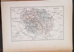CARTE GEOGRAPHIQUE ANCIENNE: FRANCE: COTE D'OR (23) (garantie Authentique. Epoque 19 ème Siècle) - Carte Geographique