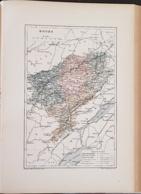 CARTE GEOGRAPHIQUE ANCIENNE: FRANCE: DOUBS (25) (garantie Authentique. Epoque 19 ème Siècle) - Carte Geographique