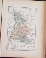 CARTE GEOGRAPHIQUE ANCIENNE: FRANCE: DROME (26) (garantie Authentique. Epoque 19 ème Siècle) - Carte Geographique