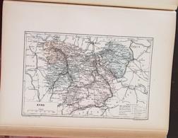 CARTE GEOGRAPHIQUE ANCIENNE: FRANCE: EURE (27) (garantie Authentique. Epoque 19 ème Siècle) - Carte Geographique