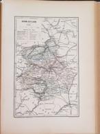 CARTE GEOGRAPHIQUE ANCIENNE: FRANCE: EURE ET LOIR (28) (garantie Authentique. Epoque 19 ème Siècle) - Carte Geographique