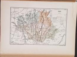 CARTE GEOGRAPHIQUE ANCIENNE: FRANCE: GERS (32) (garantie Authentique. Epoque 19 ème Siècle) - Carte Geographique