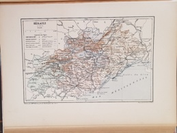 CARTE GEOGRAPHIQUE ANCIENNE: FRANCE: HERAULT (34) (garantie Authentique. Epoque 19 ème Siècle) - Cartes Géographiques
