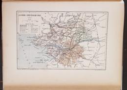 CARTE GEOGRAPHIQUE ANCIENNE: FRANCE: LOIRE INFERIEURE(44) (garantie Authentique. Epoque 19 ème Siècle) - Carte Geographique