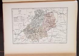 CARTE GEOGRAPHIQUE ANCIENNE: FRANCE: LOT(46) (garantie Authentique. Epoque 19 ème Siècle) - Carte Geographique