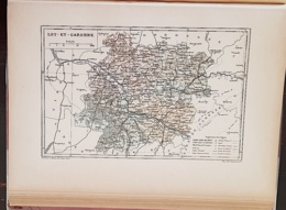 CARTE GEOGRAPHIQUE ANCIENNE: FRANCE: LOT ET GARONNE (47) (garantie Authentique. Epoque 19 ème Siècle) - Cartes Géographiques