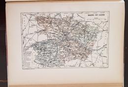 CARTE GEOGRAPHIQUE ANCIENNE: FRANCE: MAINE ET LOIRE (49) (garantie Authentique. Epoque 19 ème Siècle) - Carte Geographique