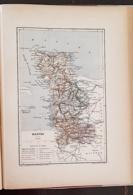 CARTE GEOGRAPHIQUE ANCIENNE: FRANCE: MANCHE (50) (garantie Authentique. Epoque 19 ème Siècle) - Carte Geographique