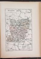 CARTE GEOGRAPHIQUE ANCIENNE: FRANCE: MAYENNE (53) (garantie Authentique. Epoque 19 ème Siècle) - Carte Geographique