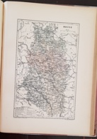 CARTE GEOGRAPHIQUE ANCIENNE: FRANCE: MEUSE (55) (garantie Authentique. Epoque 19 ème Siècle) - Cartes Géographiques