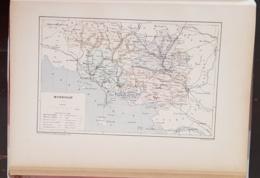 CARTE GEOGRAPHIQUE ANCIENNE: FRANCE: MORBIHAN (56) (garantie Authentique. Epoque 19 ème Siècle) - Cartes Géographiques