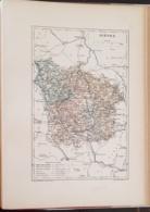 CARTE GEOGRAPHIQUE ANCIENNE: FRANCE: NIEVRE (58) (garantie Authentique. Epoque 19 ème Siècle) - Cartes Géographiques