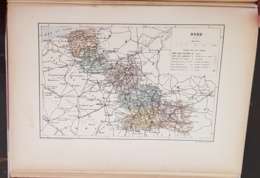 CARTE GEOGRAPHIQUE ANCIENNE: FRANCE: NORD (59) (garantie Authentique. Epoque 19 ème Siècle) - Cartes Géographiques