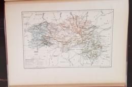 CARTE GEOGRAPHIQUE ANCIENNE: FRANCE: ORNE (61) (garantie Authentique. Epoque 19 ème Siècle) - Carte Geographique