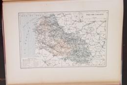 CARTE GEOGRAPHIQUE ANCIENNE: FRANCE: PAS DE CALAIS (62) (garantie Authentique. Epoque 19 ème Siècle) - Cartes Géographiques