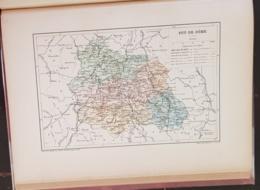 CARTE GEOGRAPHIQUE ANCIENNE: FRANCE: PUY DE DOME (63) (garantie Authentique. Epoque 19 ème Siècle) - Cartes Géographiques