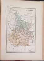 CARTE GEOGRAPHIQUE ANCIENNE: FRANCE: HAUTES PYRENEES (65) (garantie Authentique. Epoque 19 ème Siècle) - Cartes Géographiques