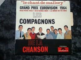 Les Compagnons De La Chanson: Le Chant De Mallory/ 45t Polydor 27 100, Languette - Vinyl Records