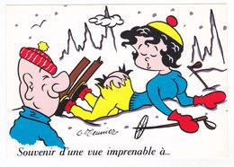 "Illustrateur MEUNIER Humour SKI  "" Vue Imprenable "" - Meunier, G."
