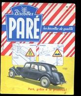 BVD1  Biscottes Paré.  Automobile Citroën 11 Cv - Biscottes