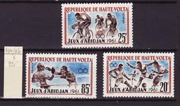 Haute Volta - Obervolta - Upper Volta 1962 Y&T N°104 à 106 - Michel N°108 à 110 * - Jeux Sportifs Africains - Haute-Volta (1958-1984)