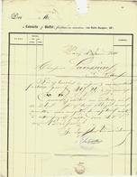 1840 RARE ENTETE FACTURE FONDERIE DE CARACTERES IMPRIMERIE LATOUCHE & BUFFET Pour Lavessière à Paris - France