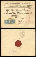 HUNGARY. 1877. Budapest / Venezia. Registered Env. Fkd. 10k X 2, Cds. VF. Scarce Usage. - Hongrie