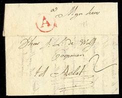 """BELGIUM. 1788. Antwerpen / Aelst. EL. """"A"""" Red Circle. - Unclassified"""