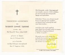 DP Baby - Leopold C. Lapeire / Lezy ° Izegem 1952 † Aartrijke Zedelgem - Images Religieuses