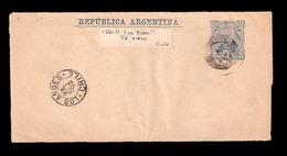 ARGENTINA. 1892. Bs. Aires / Chile. Via Los Andes. 4c. Blue Stat Wrapper. - Argentina