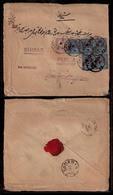 GREAT BRITAIN. 1901. London / Persia. Multifkd Env. 2 1/2 D X 5 + 5d. 17 1/2 D Rate. Unusual High Rate. - ...-1840 Préphilatélie