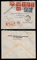 """INDOCHINA. 1940 (1 May). Haiphong / Hong Kong. Registered Multifkd. """"R3"""" Arrival Mark. - Timbres"""