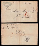 """ARGENTINA. 1872 (13 Junio). Bs As / France. BPO. Bs As + Red Entry. """"Outremer B (Inverted) / Amb Bordeux. Scarce Pm On M - Argentinien"""