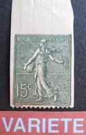 R1934/7 - 1903 - TYPE SEMEUSE LIGNEE N°130 NEUF** NON DENTELE SUR 3 COTES - Variétés Et Curiosités