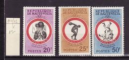 Haute Volta - Obervolta - Upper Volta 1963 Y&T N°110 à 112 - Michel N°117 à 119 * - Jeux Sportifs Africains - Haute-Volta (1958-1984)