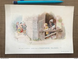 Lot 15 Cartes Les Jeux D'enfants Phosphatine Falieres - Publicité