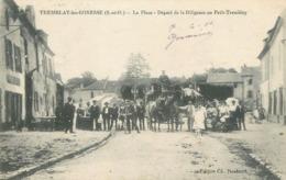 CPA ATTELAGE Sélection Tremblay Les Gonesse La Place  Départ De La Diligence Au Petit Tremblay - Tremblay En France