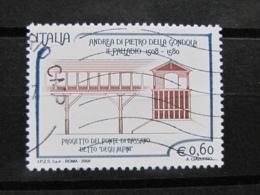 *ITALIA* USATI 2008 - 5° CENTENARIO PALLADIO - SASSONE 3033 - LUSSO/FIOR DI STAMPA - 6. 1946-.. Repubblica